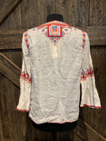 Johnny Was Willow Flare Sleeve Boho Blouse