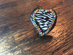 Zebra Heart Stretch Ring