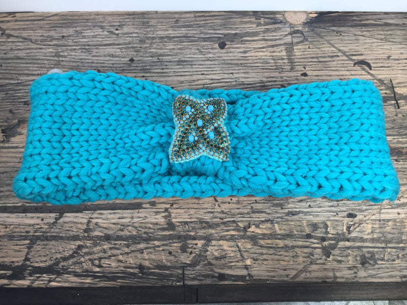 Red or Turquoise Ear Warmers