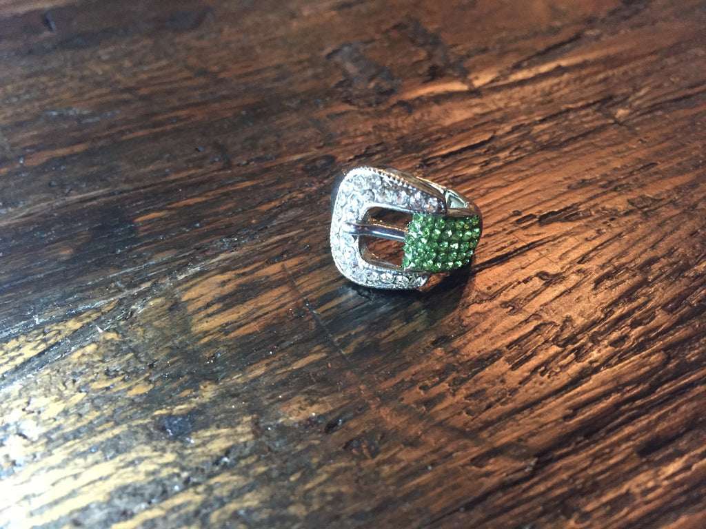 Green Buckle Stretch Ring