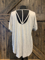 Slubbed Pocket Tunic with V Strap Back