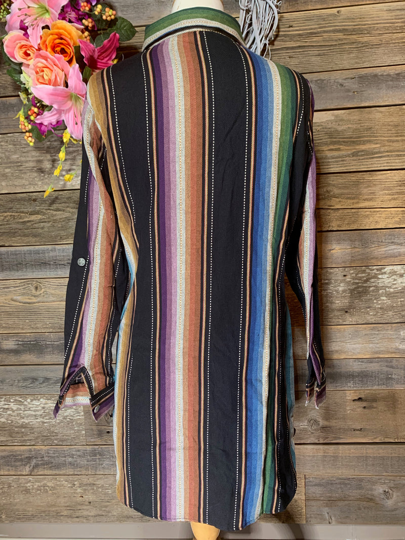 Purple button Up Serape Tunic