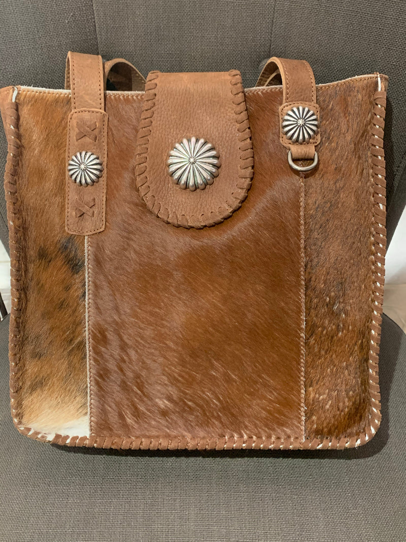 Leather Flap Concho Purse