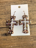 Cross Cutout Earrings