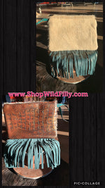 Leather Fringe Wristlet