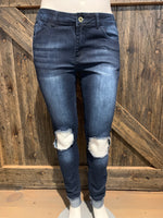 Knee Hole Skinnies Jeans