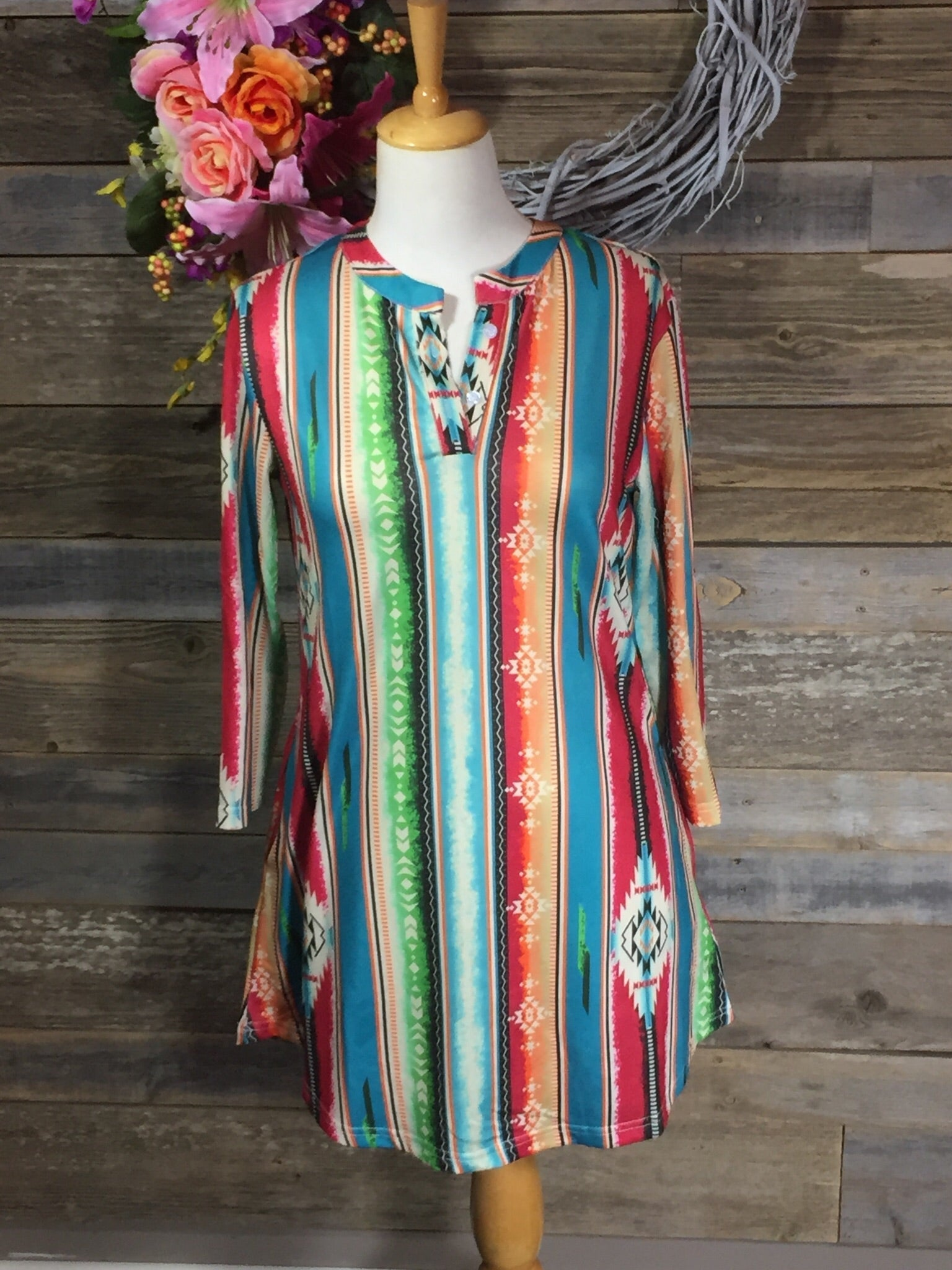 Serape Tunic Dress