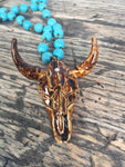 Bullhead Turquoise Beaded Necklace