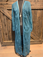Lace Duster Teal or Titanium