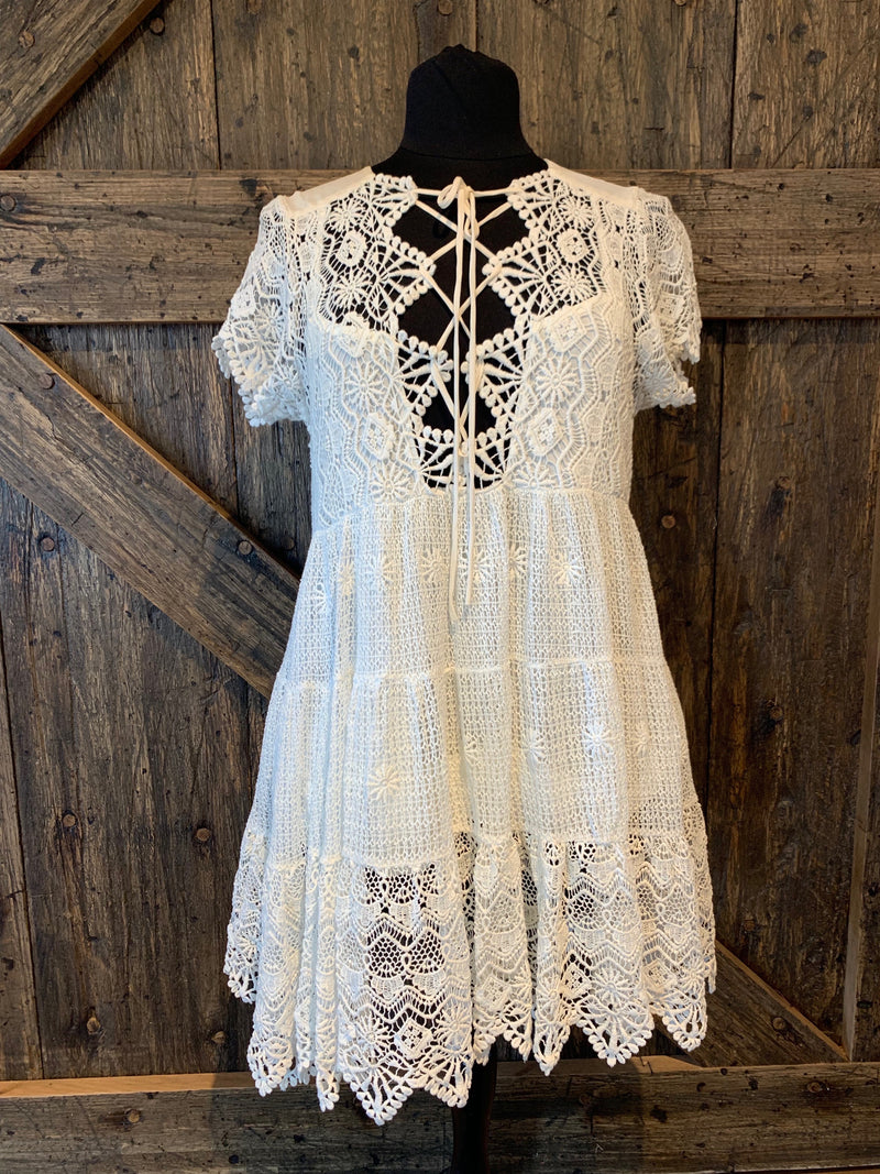 White Romance Mini Dress