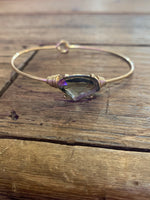 Gold Bangle with Stone