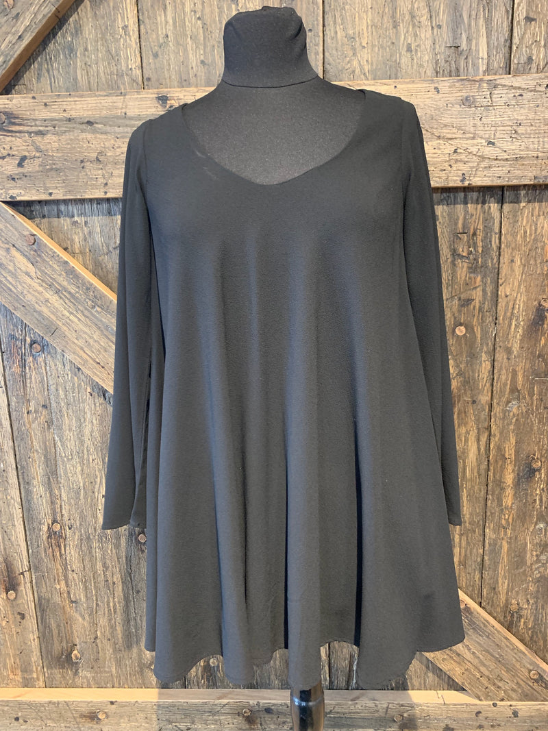 Long Sleeve Simple Party Dress