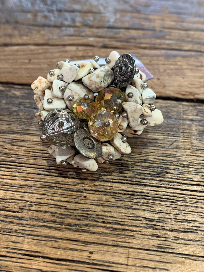 Cluster Stone Stretch Ring