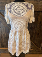 Cream Mandala Imani Mini Dress