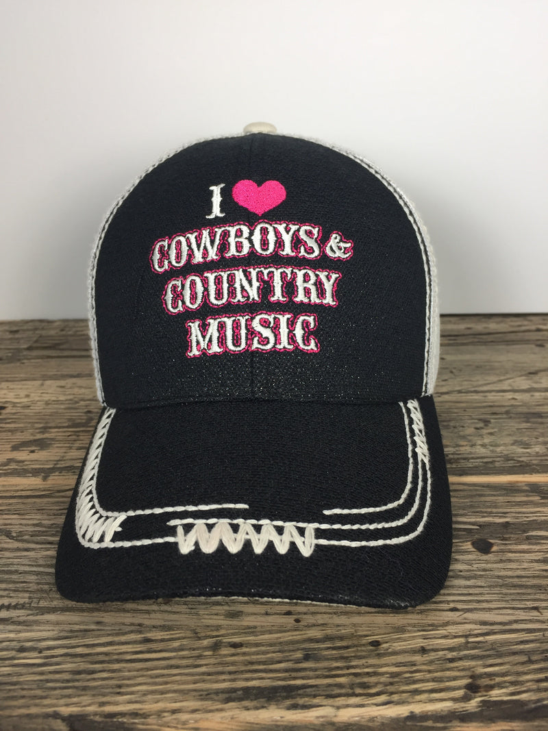 I Love Cowboys and Country Music Hat