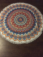 Fringe Round Beach Towel
