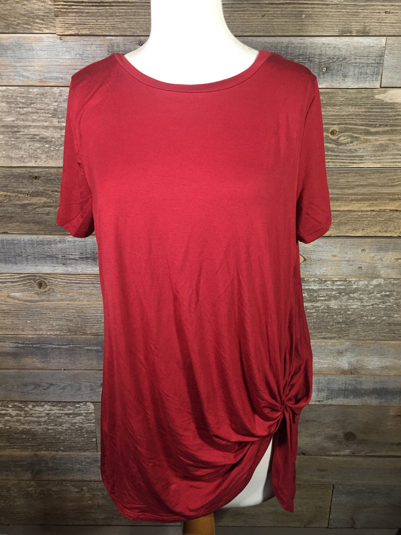 Red Knotty top