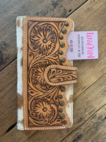 Tooled Leather Hide Wallet