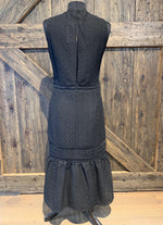 Long Black Chiffon Dress