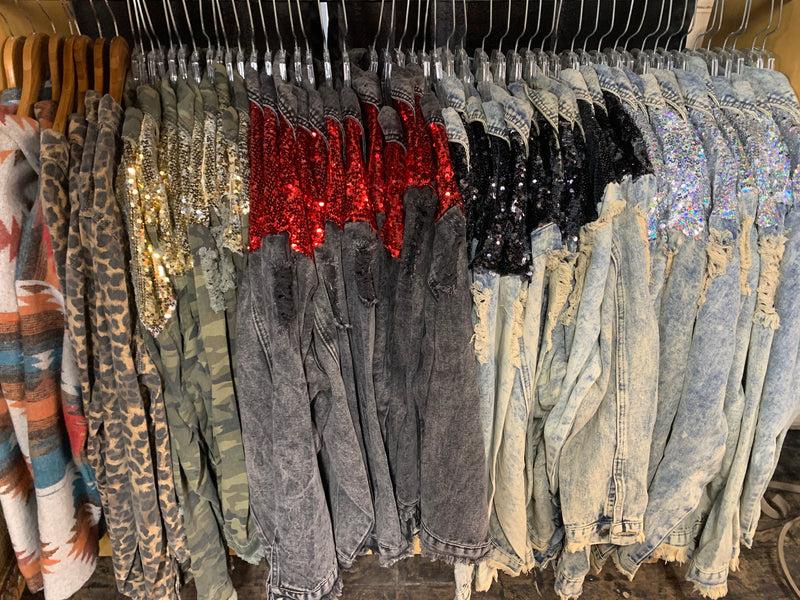 Sequin Jean Jackets
