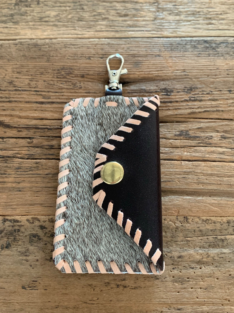 Leather Keychain Card Holder