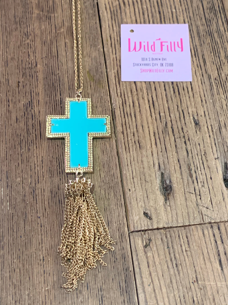 Cross Tassel Necklaces