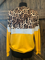 Mustard Leopard Long Sleeve Top