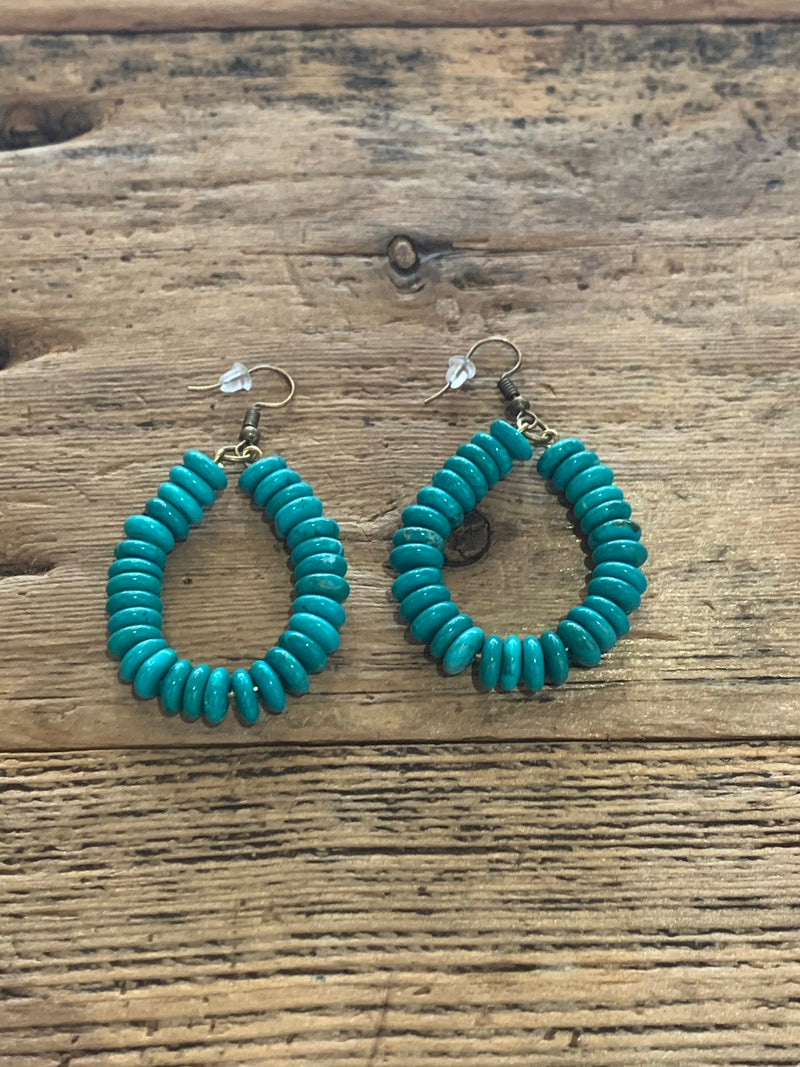 Flat Bead Loop Earrings
