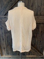 Ivory Short Sleeve Sweater