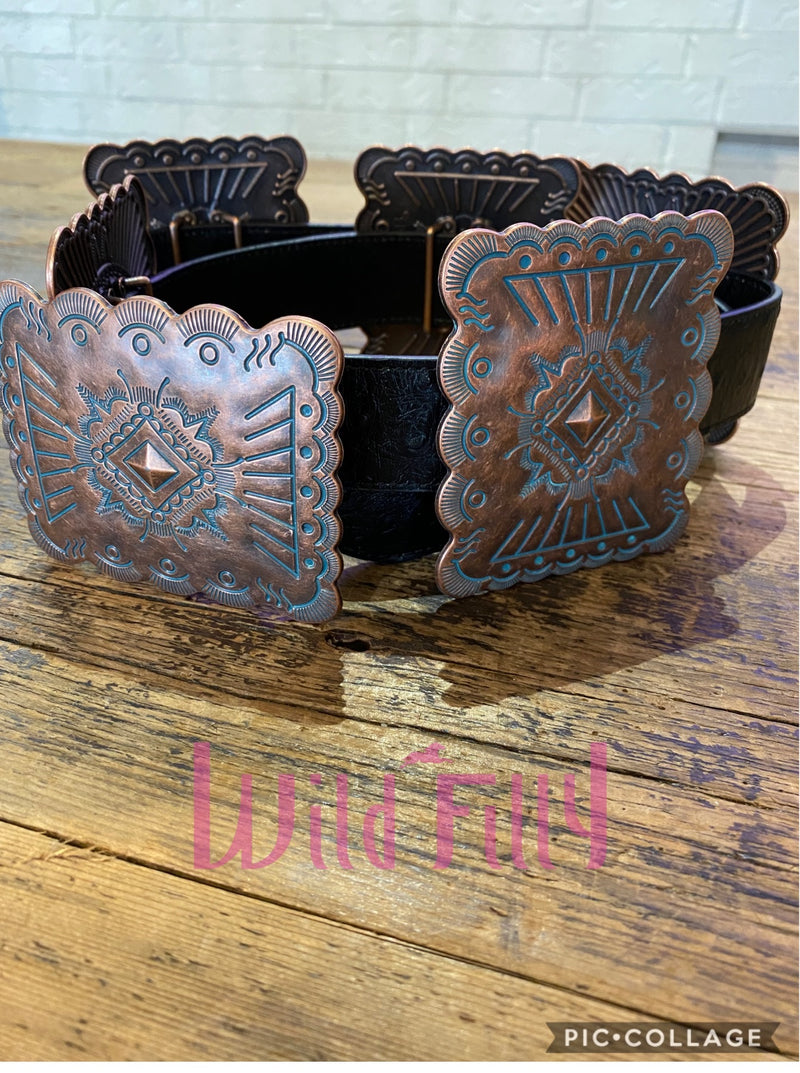 Copper Square Concho Belt