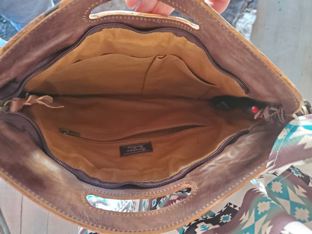 Shoulder Bag with Tooled Trim