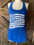 America Flag Tank Red or Blue