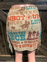 God's Country Fringe Skirt
