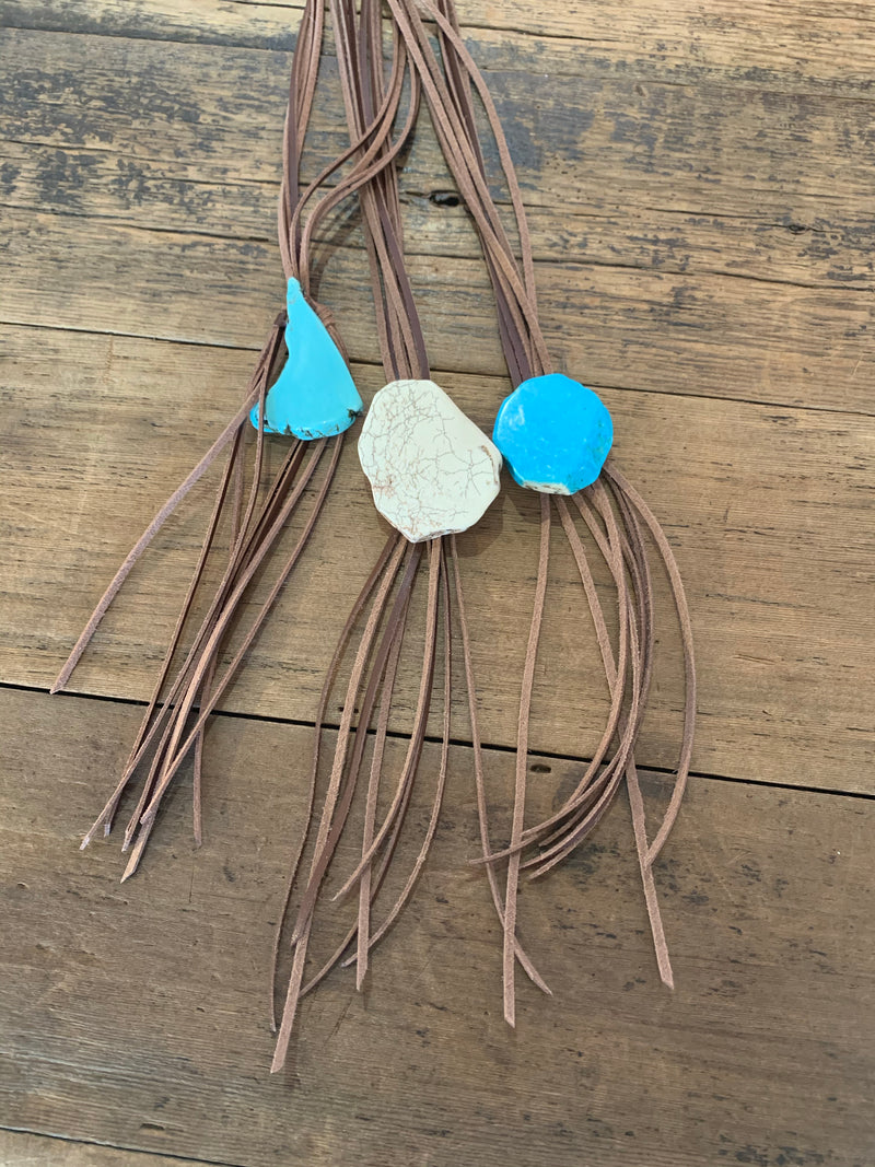 Leather Slab Necklace