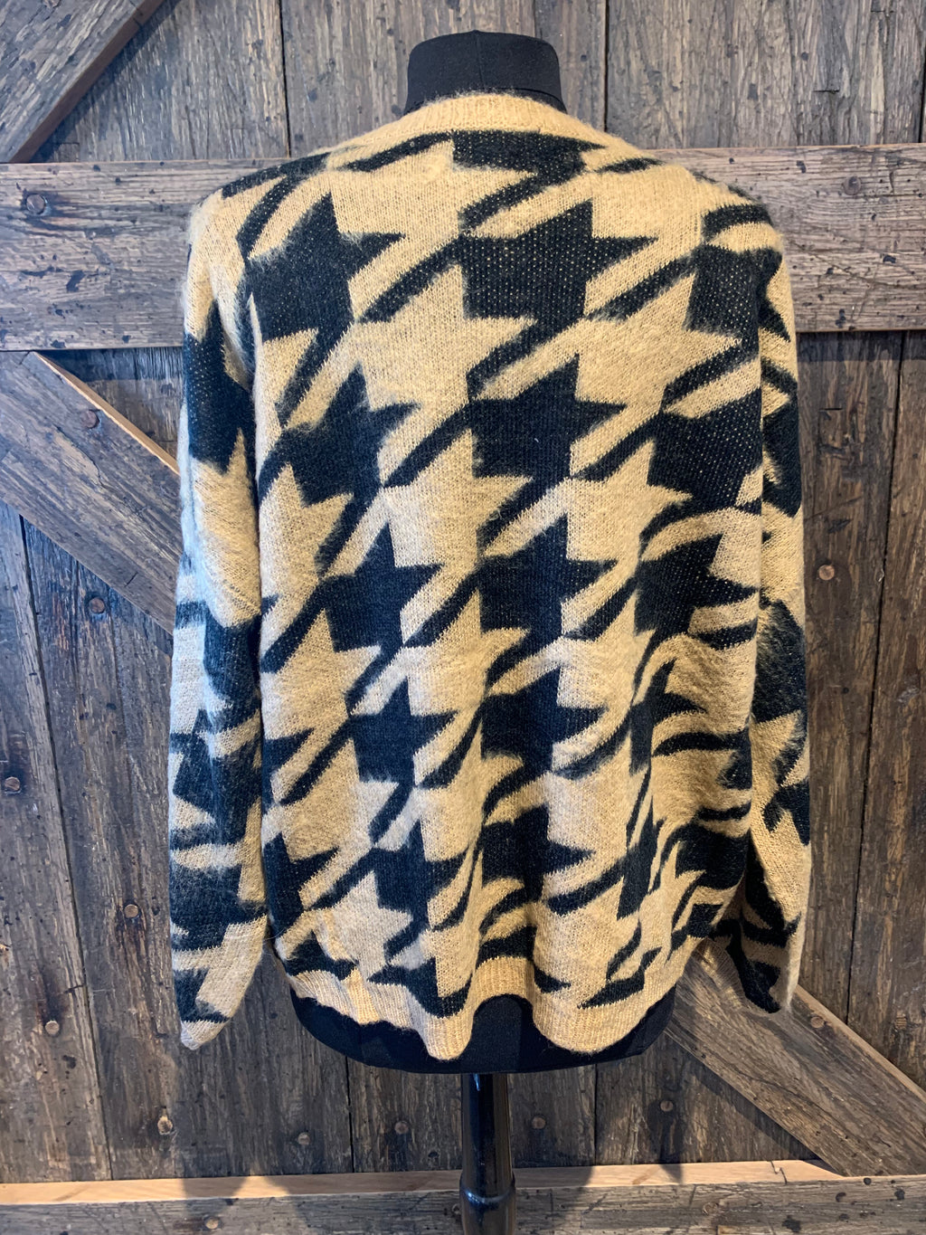 Mocha & Black Houndstooth Sweater