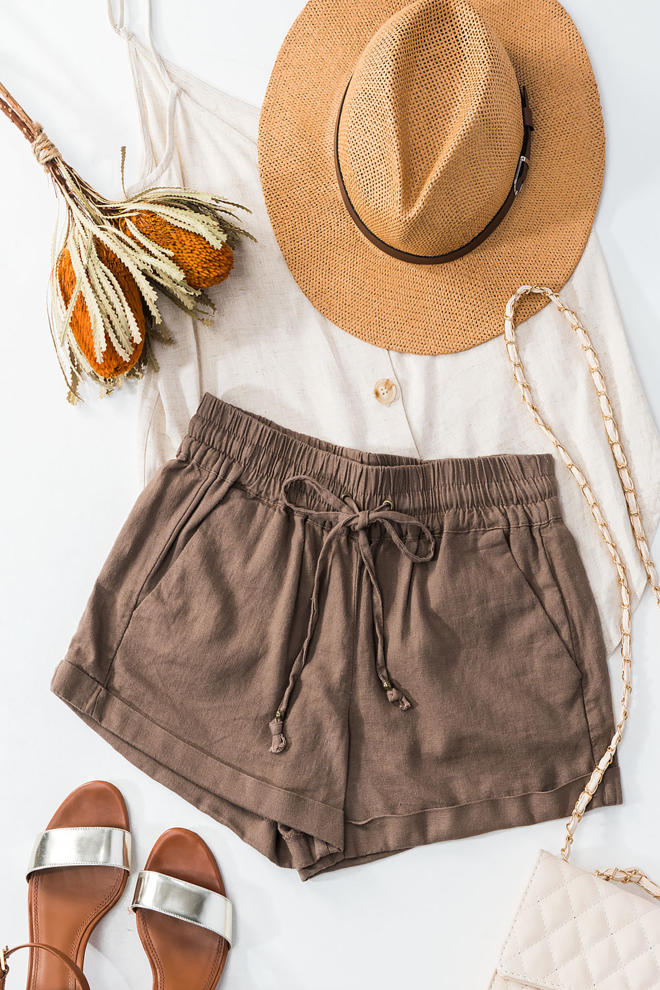 Stir Things Up Mocha Shorts