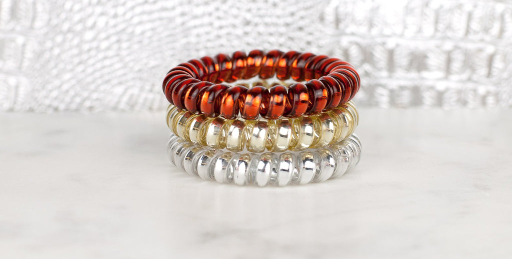 Hotline Hair Ties Mixed Metals - 3 Pack