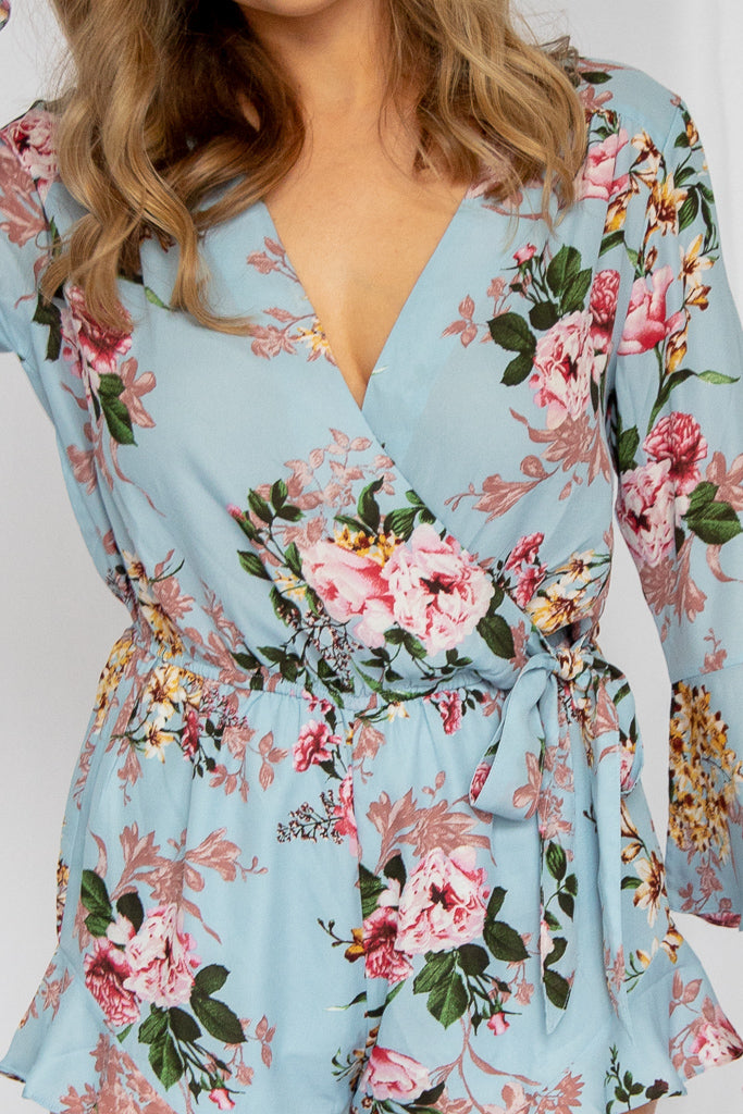 Almost Paradise Floral Romper