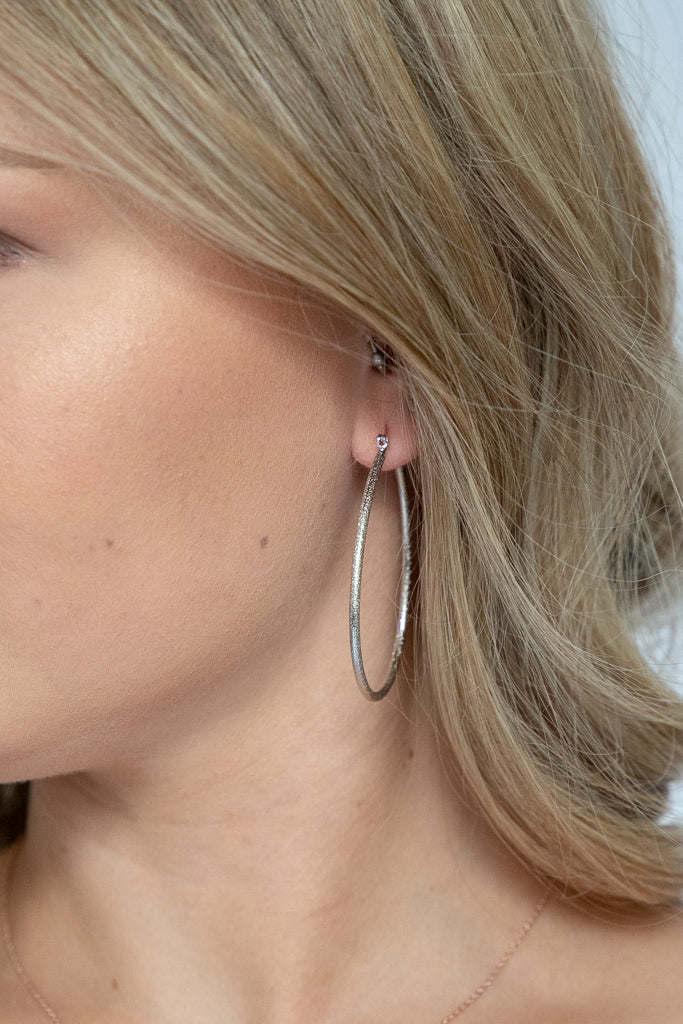 Tear Drop Silver Earrings