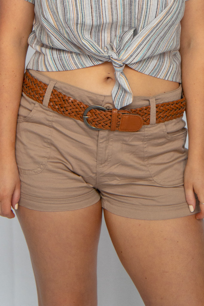 Bali Braided Belt Shorts