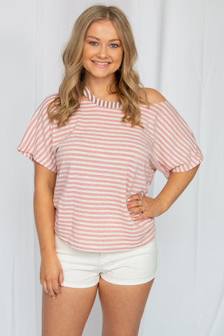Stay Toasty Gray Chevron Top