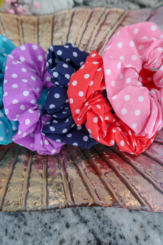 Polka Dot Scrunchies (8 pack)