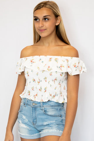 Summer Dreams Lemon Tube Top