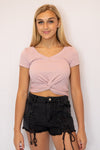 Happy Days Crop Top Pink
