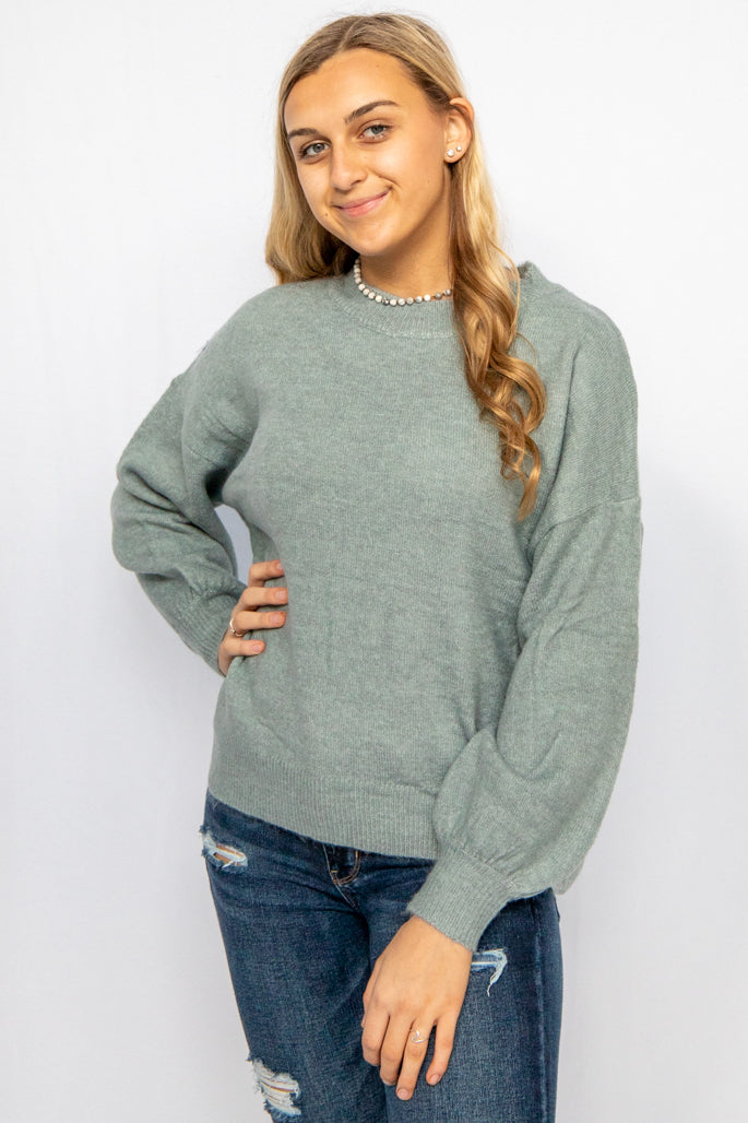 Out & About Blue Crewneck Sweater
