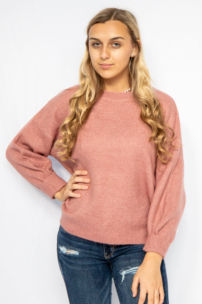 Out & About Rose Crewneck Sweater