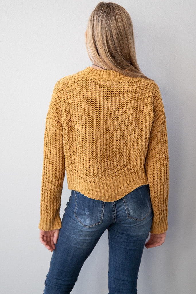 Hello Honey Cropped Sweater