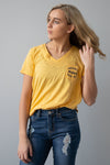 Loving Life Yellow Tee