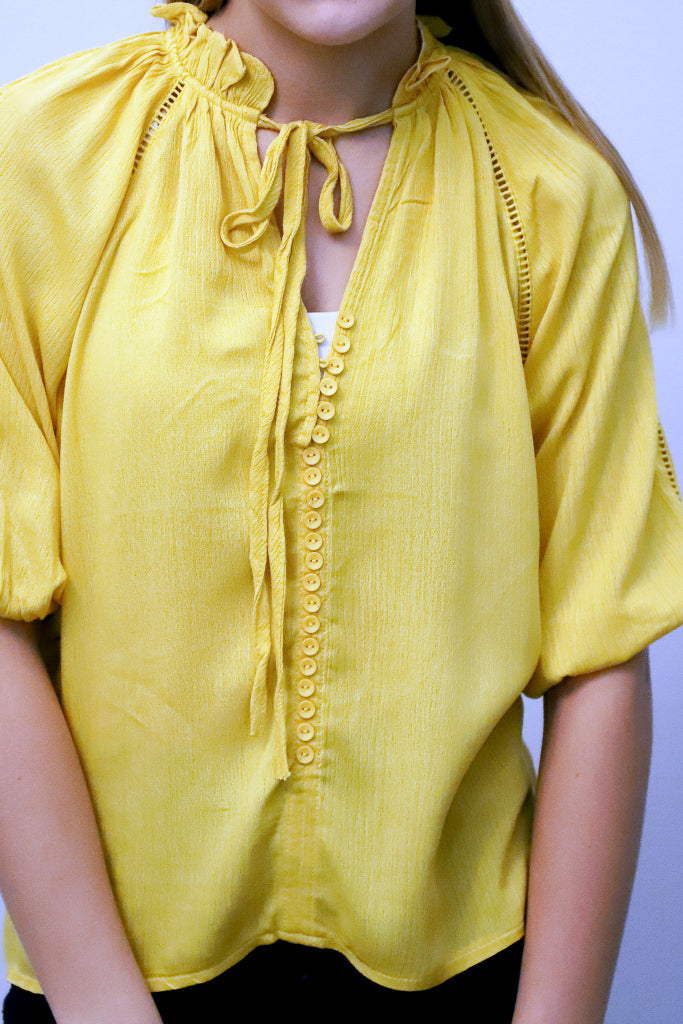 Fall in Love Yellow Top