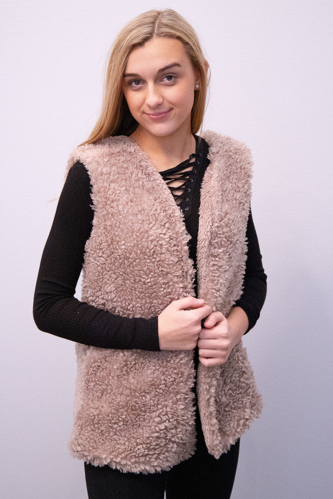 Feeling Cozy Faux Fur Vest